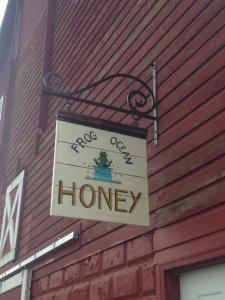 Frog Ocean Honey Sign